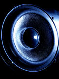 Audio Loudspeaker in Dramatic Urban Light  Royalty Free Stock Photography
