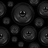 Audio mówcy, bezszwowy tło wzór Obrazy Royalty Free