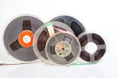 Audio magetic reel tape. Retro stock images