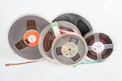 Audio magetic reel tape Stock Photo