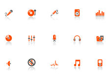 Audio and media icons. Royalty Free Stock Images