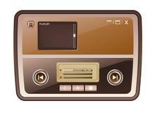 Audio media player skin Stock Photos