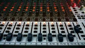 Audio melanżer Zdjęcia Royalty Free