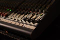 Audio melanżeru fader Obraz Stock