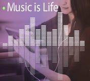 Audio Melody Wave Graphic Concept de la música Imágenes de archivo libres de regalías
