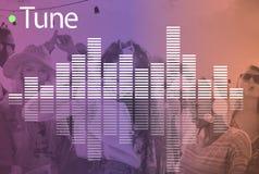 Audio Melody Wave Graphic Concept de la música Imagen de archivo