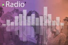 Audio Melody Wave Graphic Concept de la música Fotos de archivo