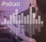 Audio Melody Wave Graphic Concept de la música Foto de archivo libre de regalías