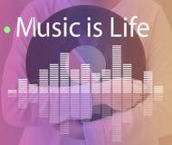 Audio Melody Wave Graphic Concept de musique Photographie stock
