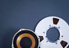 Audio metalu i mówcy rolki Rozsądni Otwarci przedmioty Inkasowi Obrazy Stock