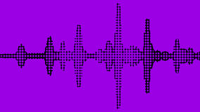 Equalizer Meter Spectrum Black Grainy Vibrant On Purple Background Royalty Free Stock Photos
