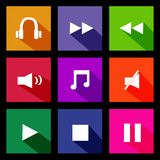 Audio Metro Icons Stock Image
