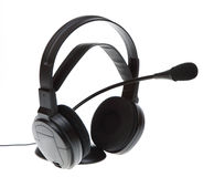 Audio microphone headphones isolated Stock Photography