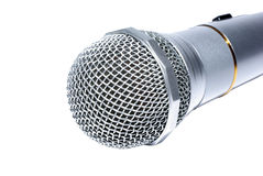Audio microphone macro Royalty Free Stock Photo