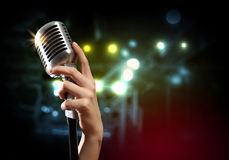 Audio microphone retro style Stock Photography