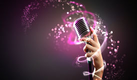 Audio microphone retro style Royalty Free Stock Photos