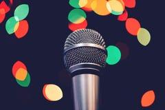 Audio mikrofon na scenie Obrazy Stock
