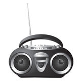 Audio mini-system, radio, player Royalty Free Stock Image