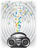 Audio mini-system, radio, player Royalty Free Stock Photo