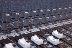 Audio miscelatore Immagini Stock