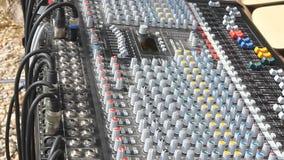 Audio miscelatore professionale Immagini Stock