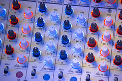 Audio miscelatore sano Fotografia Stock Libera da Diritti