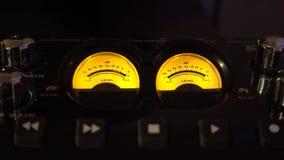 Audio misst Studiohintergrundvideo stock video