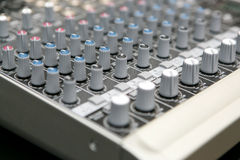 Audio mix panel Royalty Free Stock Photography