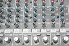 Audio mix panel Stock Image