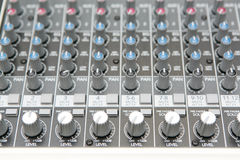 Audio mix panel Stock Images