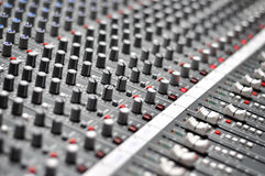 Audio mix pult Royalty Free Stock Images