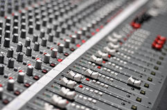 Audio mix pult. Pro mixing pult at a recording studio Royalty Free Stock Photo