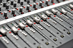 Audio mix pult Royalty Free Stock Photos