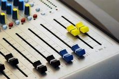 Audio mixer royalty-vrije stock foto