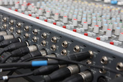 Audio mixer. Royalty Free Stock Photos