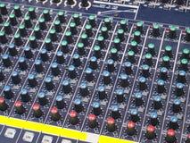 Audio Mixer. At radio studio Stock Image