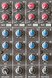 Audio Mixer. A Close Up Of An Audio Mixer Stock Image