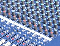 Audio mixer. Royalty Free Stock Image