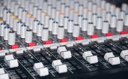 Audio mixer Stock Image