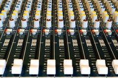 Audio mixer Royalty Free Stock Photo