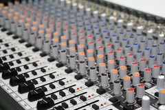 Audio Mixer Stock Photo