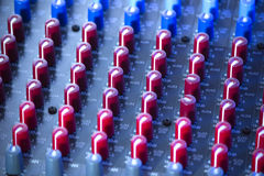 Audio mixer board Stock Photography