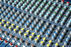 Audio mixer console royalty free stock image