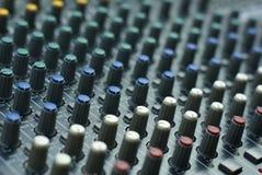 Audio mixer console Royalty Free Stock Photos