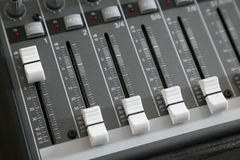 Audio mixer deck Stock Photography