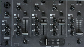Audio mixer detail Royalty Free Stock Photo