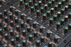 Audio mixer detail Royalty Free Stock Photography