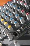Audio mixer equipment Stock Images