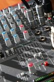 Audio mixer equipment Royalty Free Stock Photos