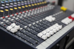 Audio Mixer Equipment Stock Photography